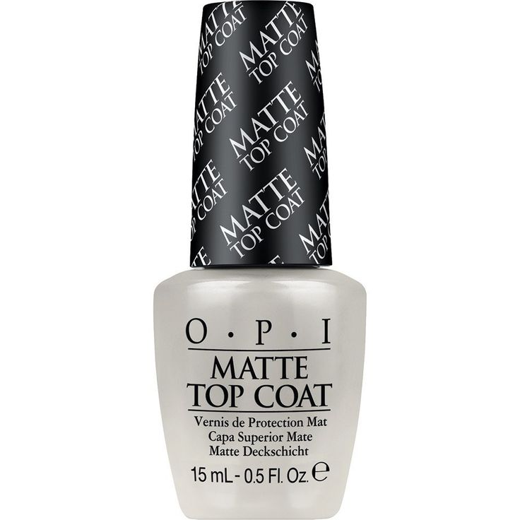 OPI Matte Top Coat prevents smudges while drying and provides a satiny matte finish. Resists scratching. Provides satiny matte finish. Protects manicure and resists scratching. Application: After you'