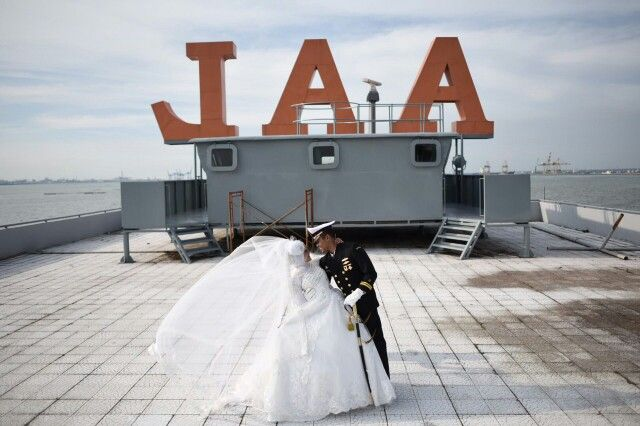 Indonesian navy prewedding at Indonesia Naval Academy