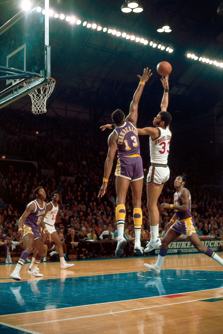 Kareem Abdul-Jabbar & Wilt Chamberlain. Two of the best NBA center ever...