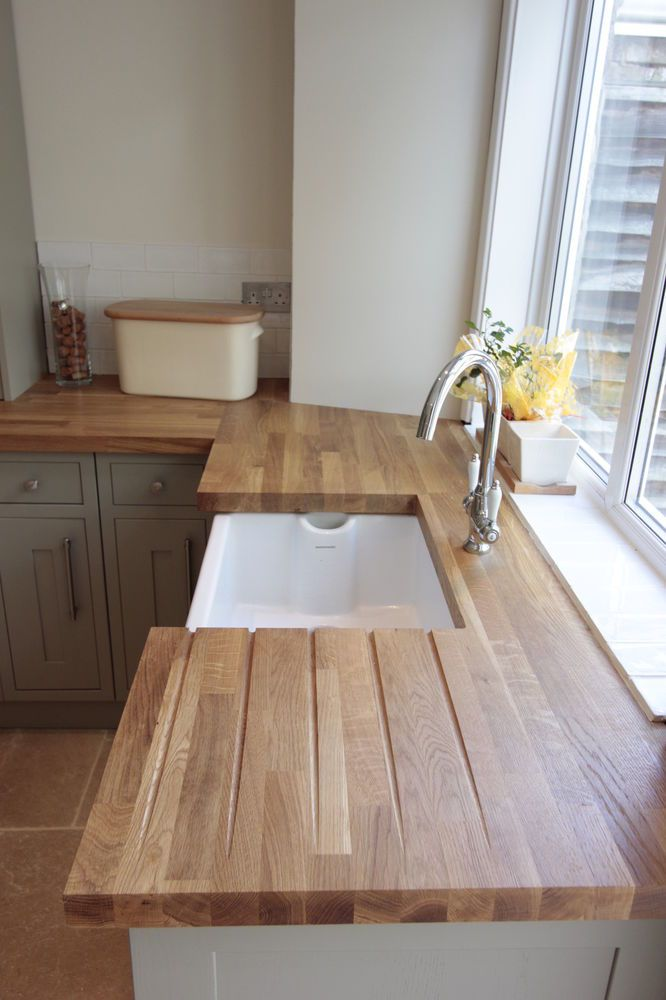 SOLID PRIME OAK WOOD WORKTOP 40mm STAVES! 1m, 2m, 3m, 4m TOP QUALITY WOOD! in Home, Furniture & DIY, Kitchen Plumbing & Fittings, Kitchen Units & Sets | eBay