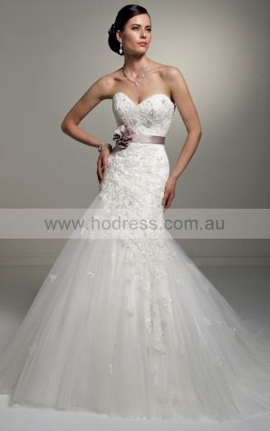 A-line Sleeveless Sweetheart Lace-up Floor-length Wedding Dresses feaf1091--Hodress