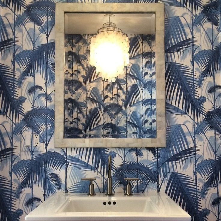 Cole and son palm jungle wallpaper. For more inspiration, design tips and home decor ideas follow @SteinTeamNYC