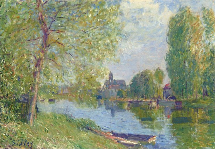 Discover Alfred Sisley With His 3 Most Popular Paintings | http://thebrushstroke.com/discover-alfred-sisley-3-popular-paintings/