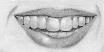 How to Draw a Smiling Mouth with Teeth – Tutorial