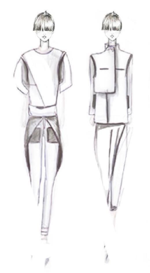 Fashion Sketchbook - modern tailoring; fashion design sketches; fashion portfolio // Aylin Kiral