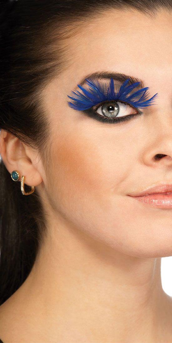funly fake eyelashes   Blue Eyelashes - Fake Eyelashes   eye ...