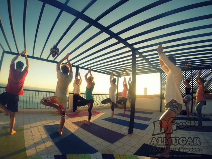 Dfrost Almugar Surf & Yoga House, Morocco Ocean front rooftop YOGA