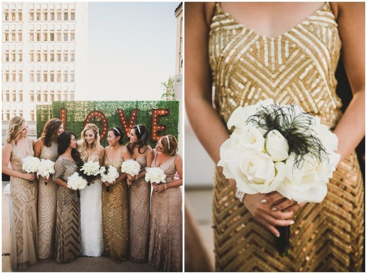 An Art-Deco, Great Gatsby themed wedding at the Oviatt Penthouse in Downtown Los Angeles. 1920s themed wedding. Berta wedding Dress || Photography by Shelly Anderson Photography || www.shellyandersonphotography.com