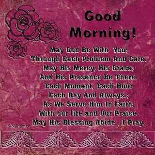Christian Images In My Treasure Box: Good morning!