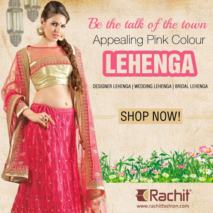 Be the talk of the town in this ambitious pure net appealing lehenga In pink colour.  #pink #fashion #womenswear #clothing #ladies #style #fashiontrends #ethnicwear #apparel