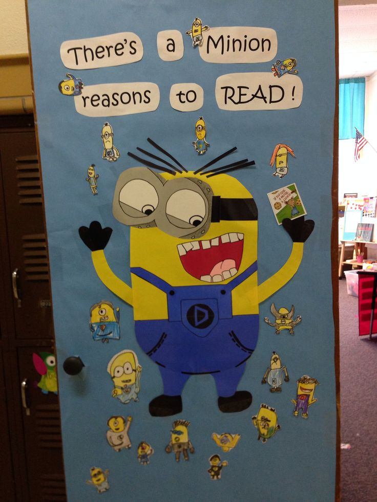 Classroom Book Ideas ~ Minion classroom door library display ideas pinterest