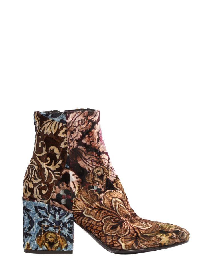 Velvet ankle boots, #patchwork style. www.strategiajfk.it