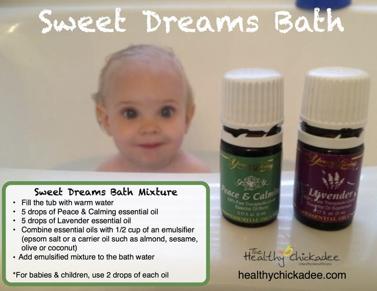 Promote sleep naturally using Lavender or Peace & Calming Essential Oils in the bath tub - Young Living - The Healthy Chickadee