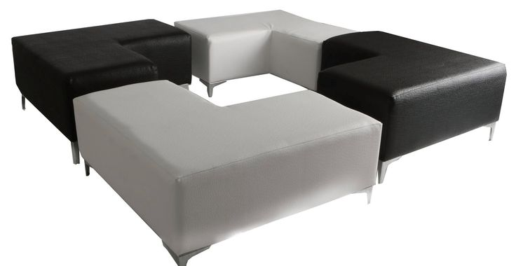 L shaped ottoman mixed setup