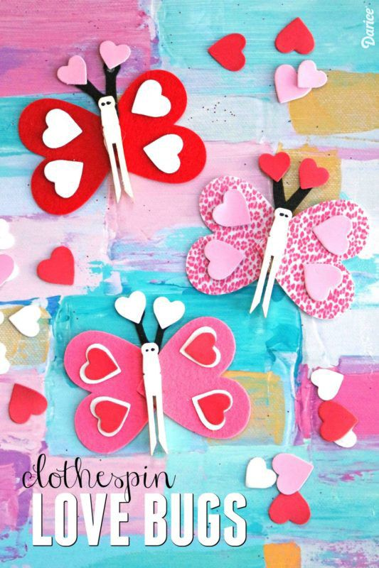 Clothespin Love Bug Craft For Kids