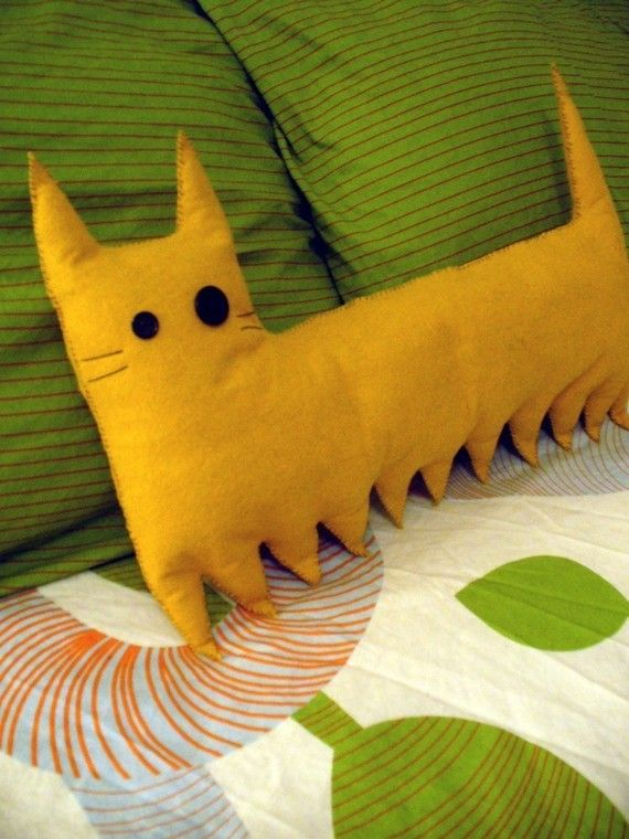Centi-Cat Pillow by Catzilla Crafts