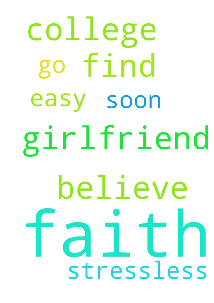 Please pray that my girlfriend will find faith and - Please pray that my girlfriend will find faith and believe in God before i go to college. Please pray that she believes in him soon and please pray that college will be easy and stressless  Posted at: https://prayerrequest.com/t/MGH #pray #prayer #request #prayerrequest