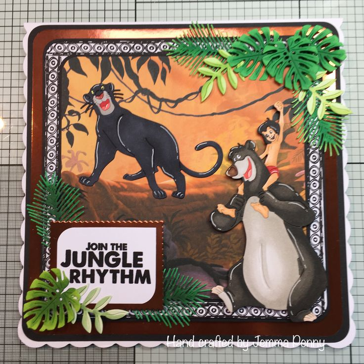 Disney Jungle Book dies and paper pad - characters coloured with Copics