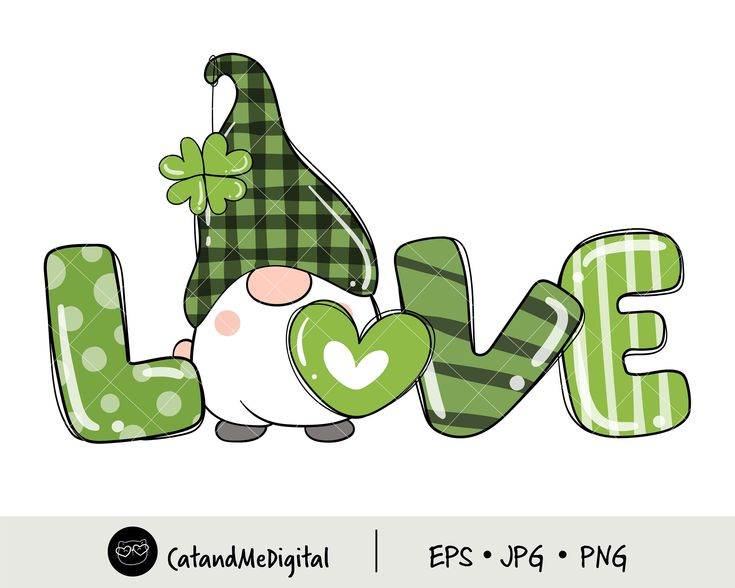 St Patricks Day Gnome Love Clipart Lucky Clipart Clover Etsy In 2021 St Patricks Day Clipart Saint Patricks Day Art St Patricks Day Cards