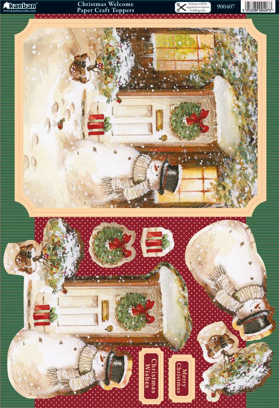 Christmas card topper and 3D embelishments
