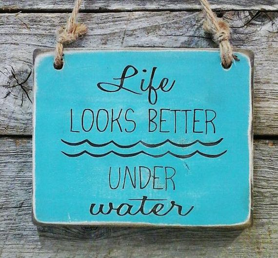 Scuba Sign Diving Decor Pool Decor Pool Sign Lake by edisonwood