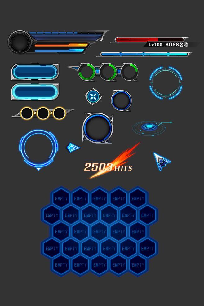 科幻风原创 |GAMEUI- 游戏设计圈...                                                       …