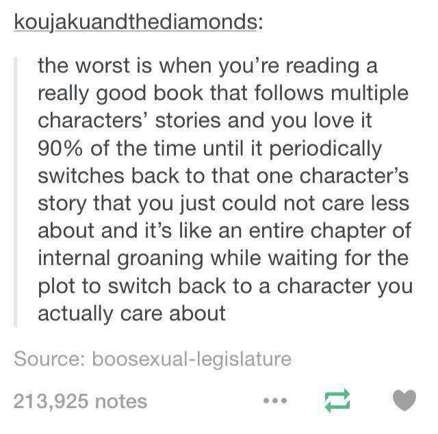 Totally. The thing is with Blood of Olympus I kinda only cared about Nico's POV for the fact that it was the first time for him so I was kinda obsessed with his chapters.