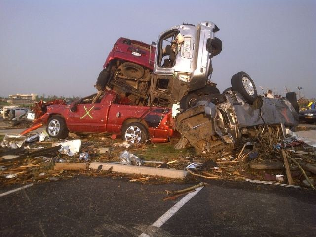 2011. I took this in Joplin, MO the morning after an EF 5 cut through the middle of town.