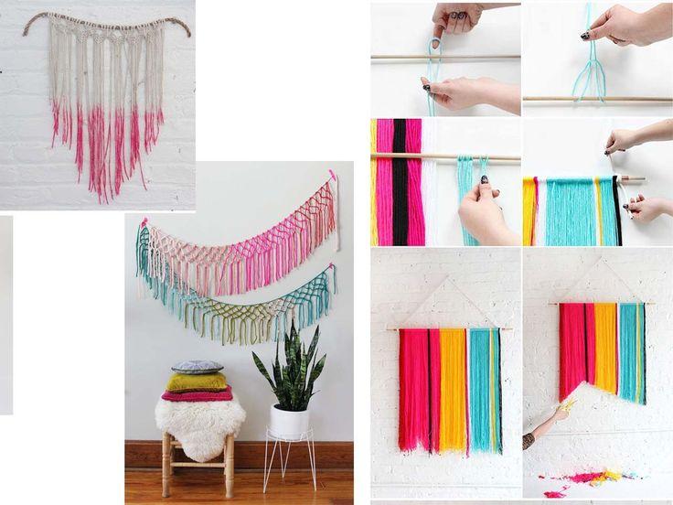 15 Manualidades para decorar paredes | Decoracion ... on Room Decor Manualidades Para Decorar Tu Cuarto id=84422