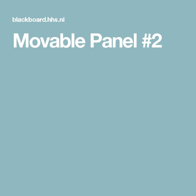 Movable Panel #2