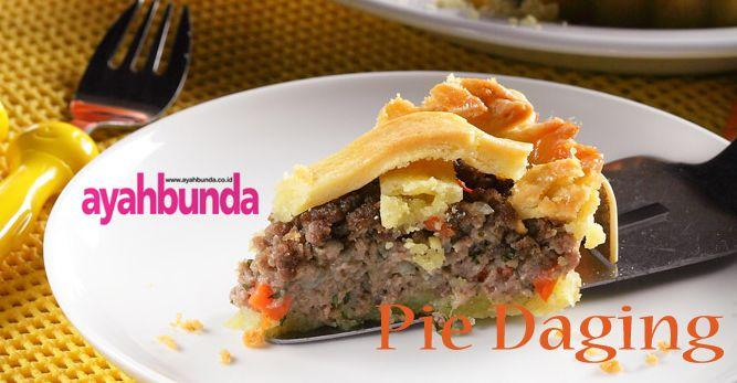 Pie Daging :: Meat Pie :: Klik link di atas untuk mengetahui resep pie daging