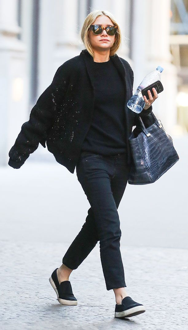 ashley olsen in all black