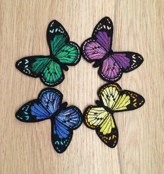 Iron On Fabric Appliques 10 Little Pastel Butterflies
