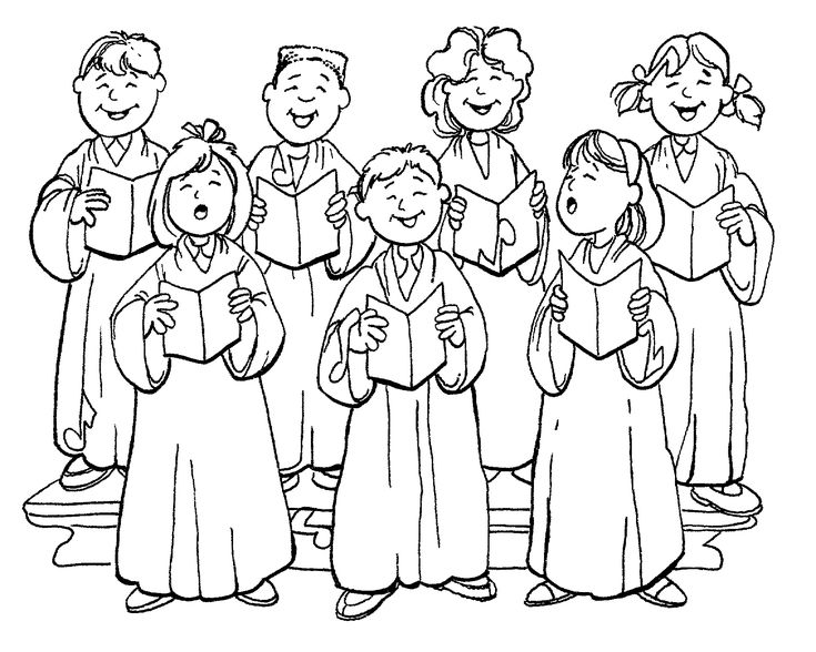 free church choir coloring pages - photo#2