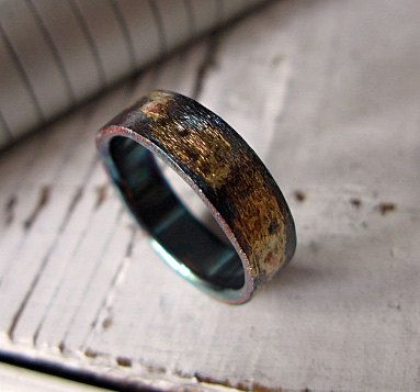Unique Items similar to Rustic Mens Wedding Band Comfort Fit Wedding Band Artisan Mens Wedding Ring Oxidized Sterling Silver Commitment Ring Unique Ring Gold on