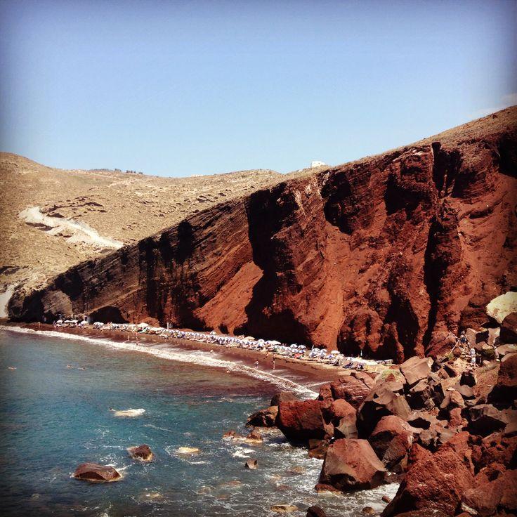 Red Sand Beach, Santorini. Greece. Boom!