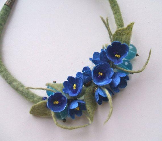 Collana con la seta dei bozzoli collana di fiori fatti di jurooma
