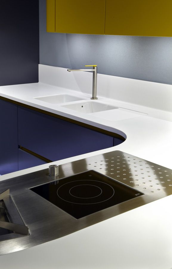 Amazing HI-MACS® kitchen presented by Ar-Tre Cucine at #Eurocucina 2014 in Milan. #Design #HIMACS