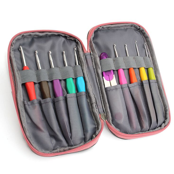 Crochet Needle Hooks Set Organiser Case AccBearded Needle Suit With 45 Piece Attach One Storage Bag at Banggood