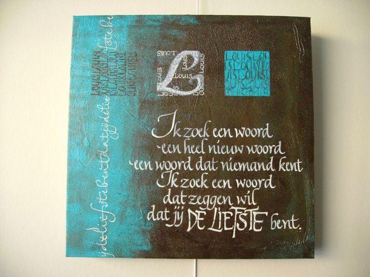 Canvaswerken Kaligrafie Marie-Jeanne Van Deursen