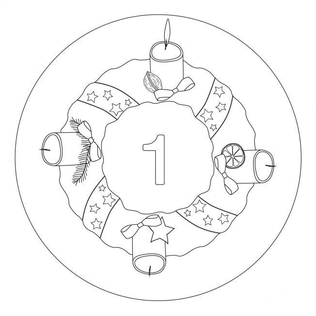 Weihnachtsmandala 1. Advent