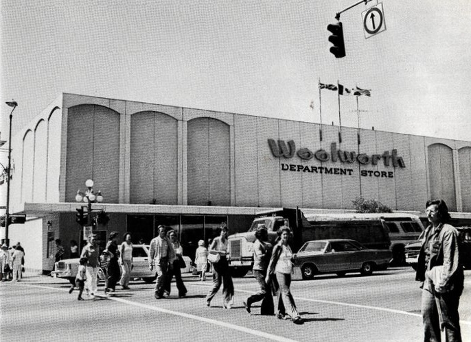 Woolworth's Department Store on Douglas at View Street. Victoria BC Canada