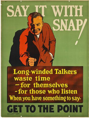 Motivational Poster 1920s