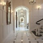 black and white enfilade