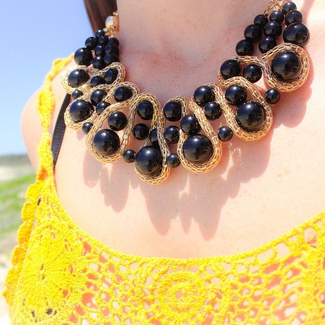 #black and #gold #chain and #bead #chunky necklace #jewelleryofinstagram #befierce #bebold #standout