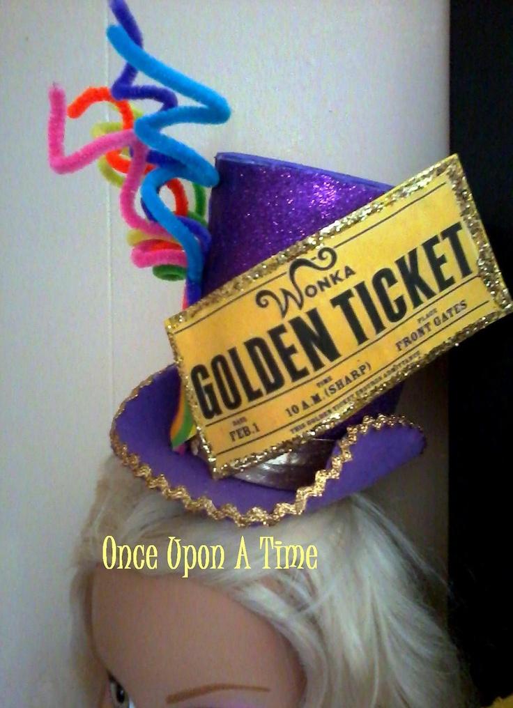 OOAK - Whimsical Willy WONKA Top Hat FASCINATOR ...