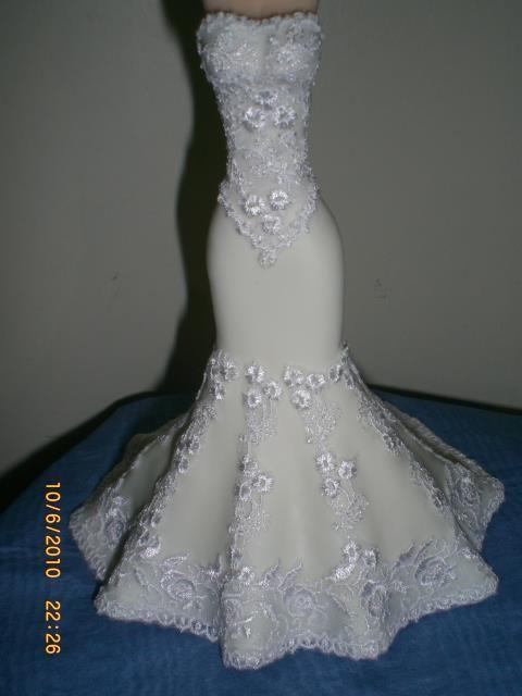 Vestido de novia de fofucha,
