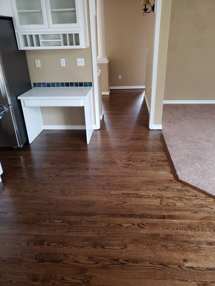 This Is A Red Oak Floor Refinished With A Water Popped