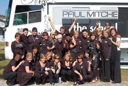 Student Life | Design Team members from the Orlando and Tampa Paul Mitchell Schools joined forces with Tampa's Hillel school to raise money for the Larry King Cardiac Foundation. #paul #mitchell #schools #pmtswichita #charity #fundraising #future #professional #pmtslife