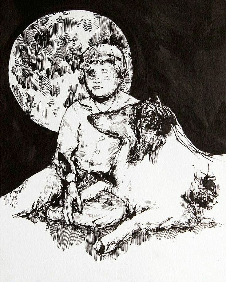 Lassie and the Doomsday Comet - Original drawing by Adele Marie Rannes  #art #painting #drawing #illustration #picture #artist #gallery #draw #picture #sketch #sketchbook #nofilter #instaart #instagood #gallery #photooftheday #picoftheday #instaartist #graphic #graphics #artoftheday #photo #photography #instagood #tagsforlike #love #poster #tbt #fineart #beautonart